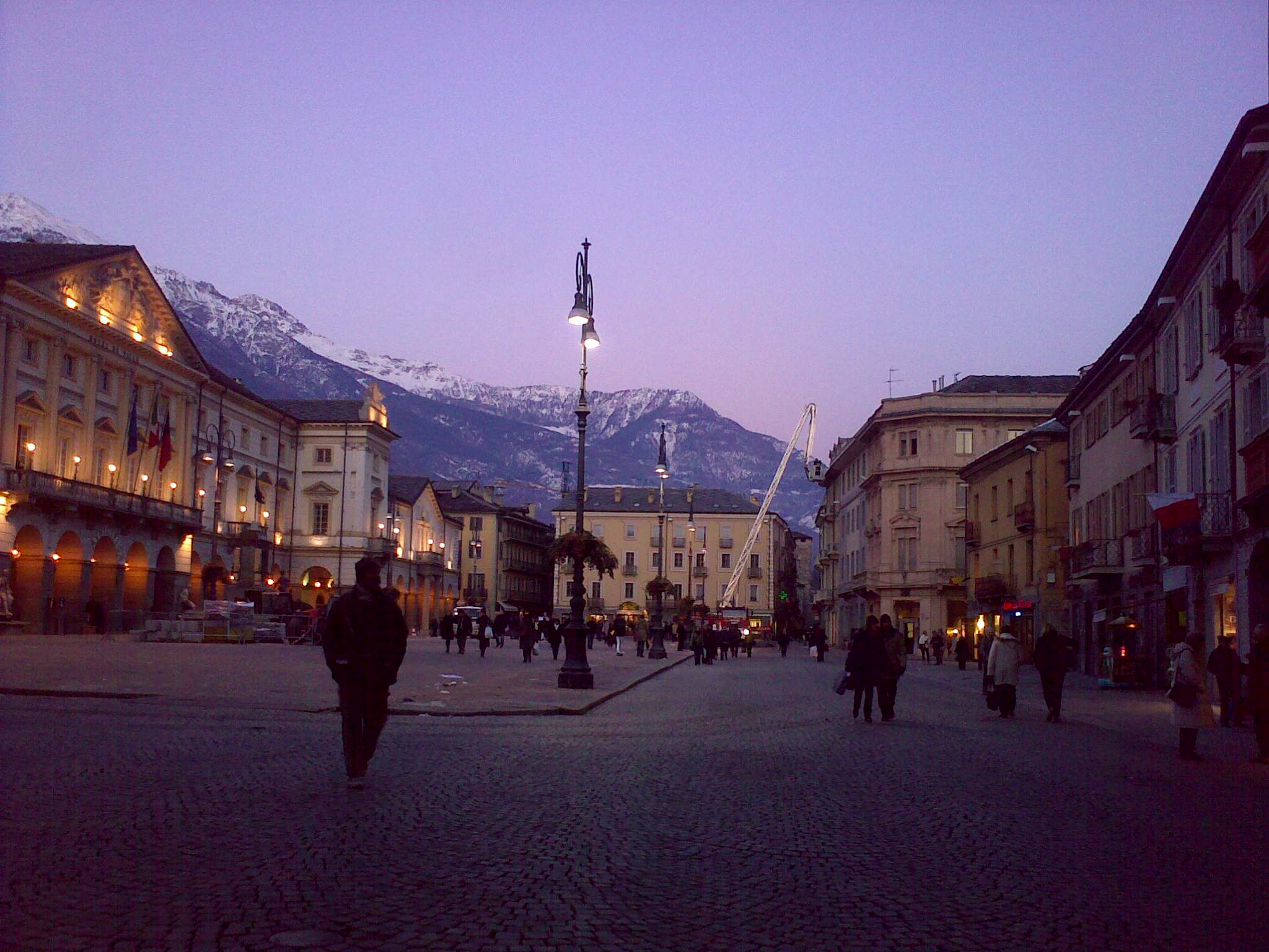 Late afternoon in AOSTA